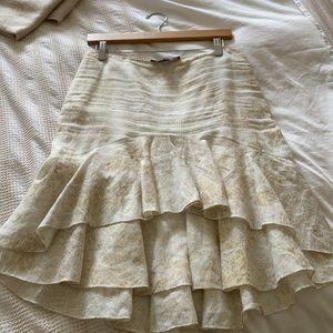 Ralph Lauren linen cream and gold skirt